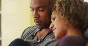 black-couple-cuddling