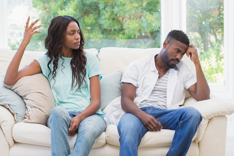 Image result for black couple not in talking terms